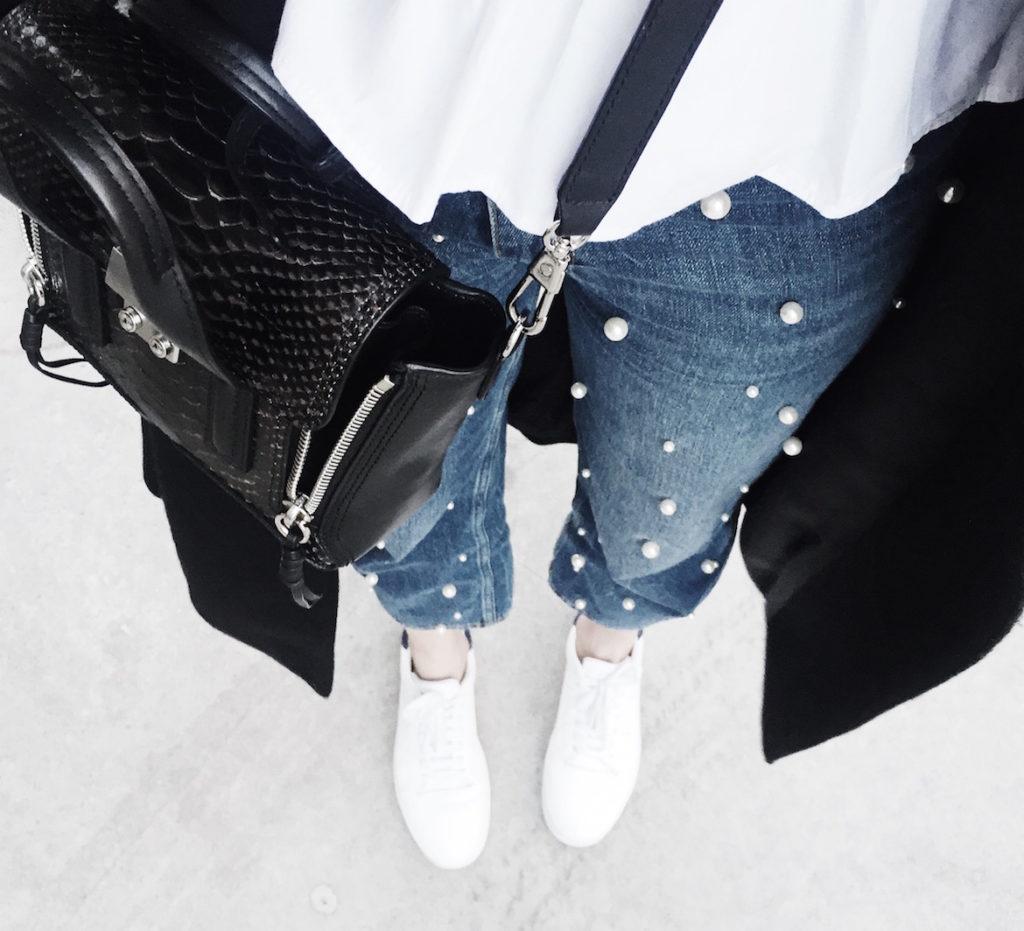 pearl jeans zara