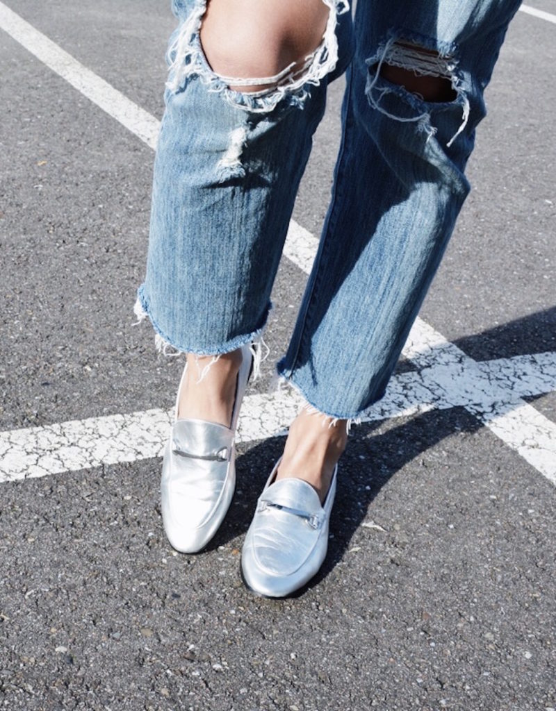 silver loafers manfield