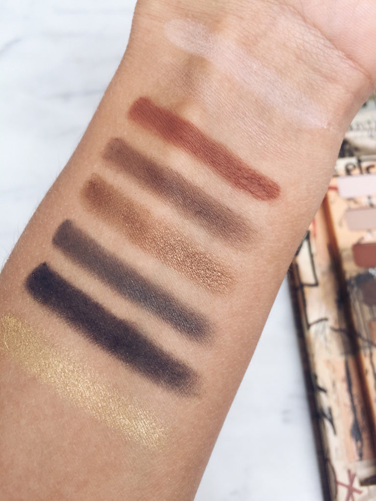 review eyeshadow palette gold griot
