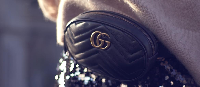 gucci belt bag zwart