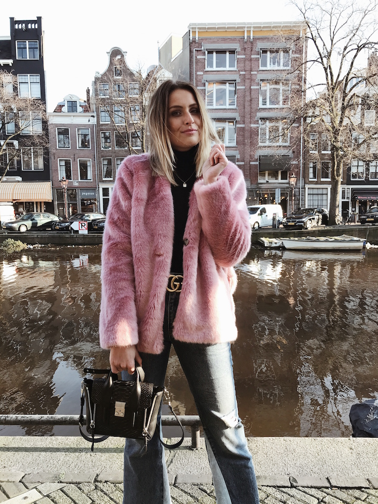 marlien besselink pink faux fur coat second female