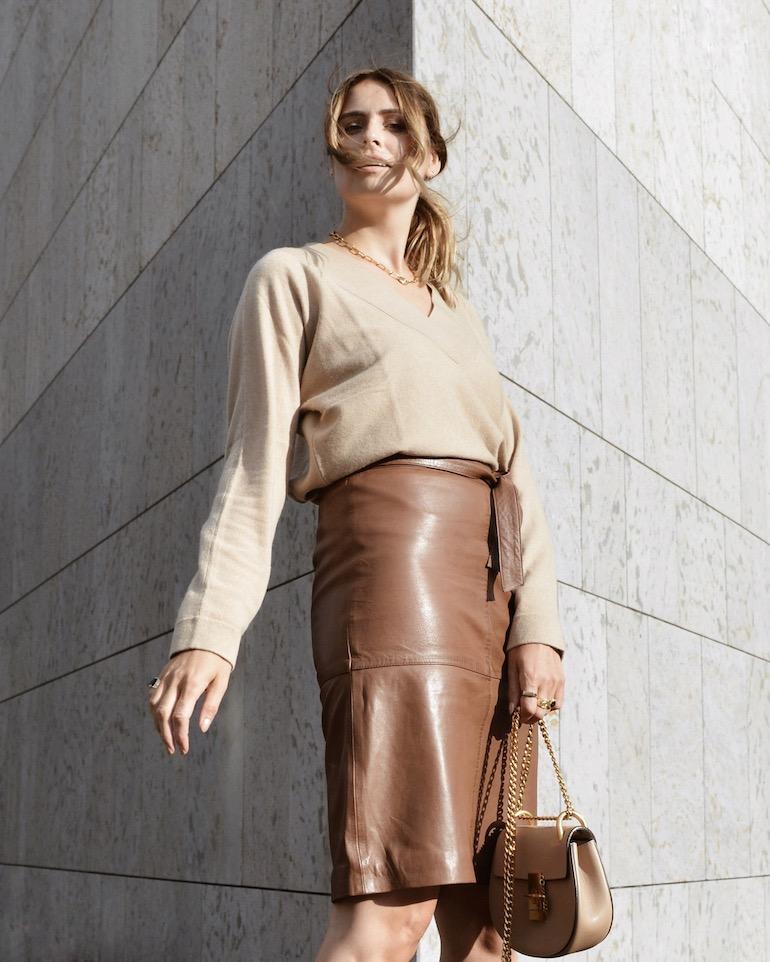 repeat cashmere beige trui